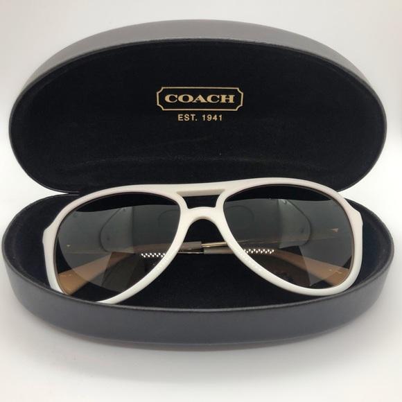 461c2044ca0d Coach Accessories - SALE! COACH ✨ Sunglasses 🕶 in White and Gold